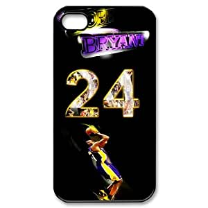 DIY case 1 NBA Team Los Angeles Lakers Kobe Bryant Print Black Case With Hard Shell Cover for Apple iPhone 4/4S by icecream design