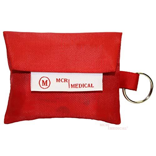 MCR Medical Supply MCRKEY-G-1 Nylon CPR Mask Keychain with Nitrile Gloves