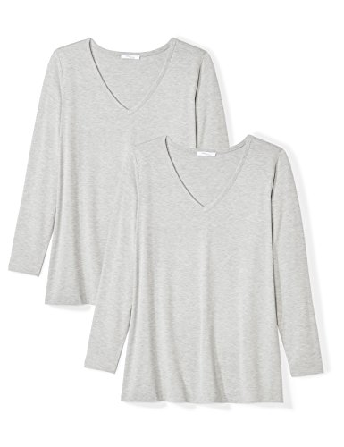 Daily Ritual Women's Plus Size Jersey Long-Sleeve V-Neck T-Shirt