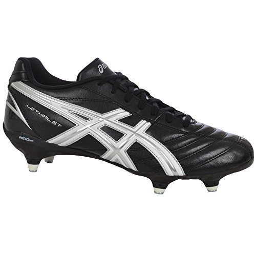 ASICS Mens Lethal St Soft Ground Rugby Boots - Black - 9.5US by ASICS