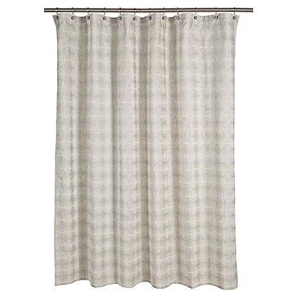 Amazon Tile Grid Shower Curtain Natural 72x72 Home Kitchen