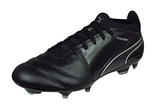PUMA One 17.3 AG Mens Leather Soccer Boots/Cleats-Black-9