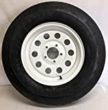 New 14' White Mod Trailer Wheel with Radial ST205/75R14 Tire Mounted (5x4.5) bolt circle NOS