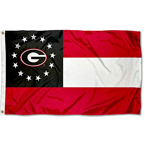 College Flags and Banners Co. Georgia Bulldogs State of Georgia Flag ()