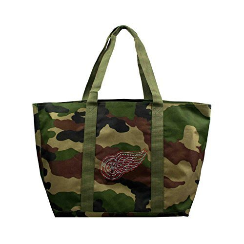 NHL Detroit Red Wings Camo Tote, 24 x 10,5 x 35,6 cm, olive von Little Earth