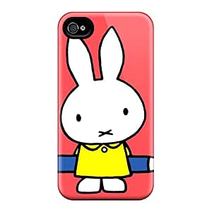 New Tpu Hard Cases Premium Iphone 4/4s Skin Cases Covers(red Miffy)
