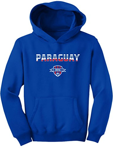 TeeStars - Paraguay National Soccer Team 2016 Paraguayan Fans Youth Hoodie X-Large Blue ()