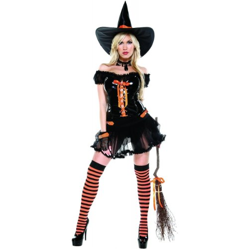[Wickedly Sexy Witch Costume - Small/Medium - Dress Size 2-5] (Halloween Costume Ideas For Two Teenage Girls)