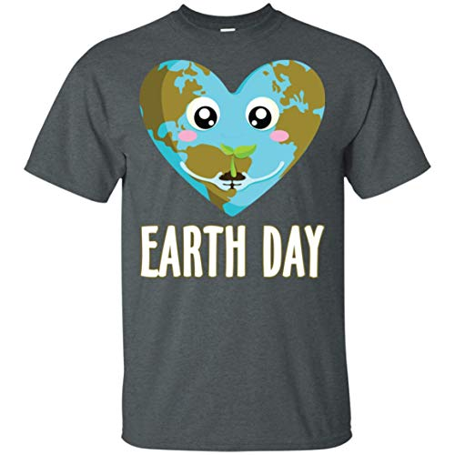 Earth Day 2017 Heart T-Shirt Dark Heather ()