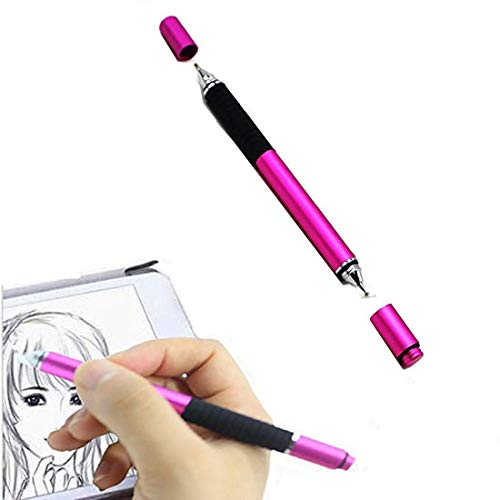 ZLMC Fine Point Tip Stylus Pen ,Compatible with Mobile Phone,Nexus 10 7, Kindle Fire ,IPad Air Mini , Dell Lg Nextbook, Samsung Galaxy Tab and Other Touch Screen Devices, Ballpoint Pens (Rose Red)