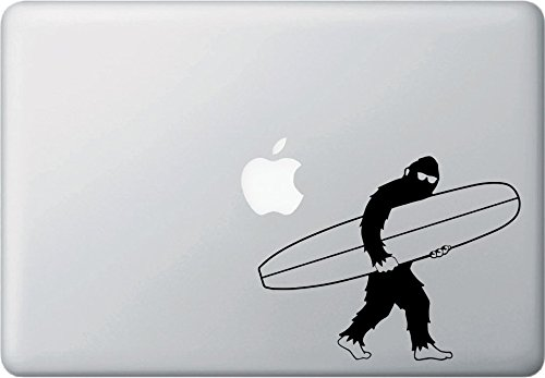 超安い品質 Surfin ' Sasquatch – with Longboard – 2 ) Bigfoot – ビニールデカールfor MacBook | Laptop |屋内使用 – © YYDC ( 6.25