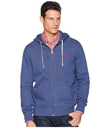 Polo Ralph Lauren Classic Full-Zip Fleece Hooded Sweatshirt - L - RusticNavyHtr ()