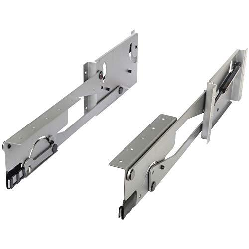 Shelf Base System - Knape & Vogt 24 in. H x 3 in. W x 13 in. D Steel Appliance Lift Cabinet Organizer, Plain