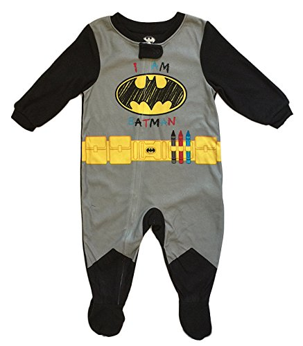 DC Comics Baby Boys Batman Footed Sleeper Pajama (18 Months)