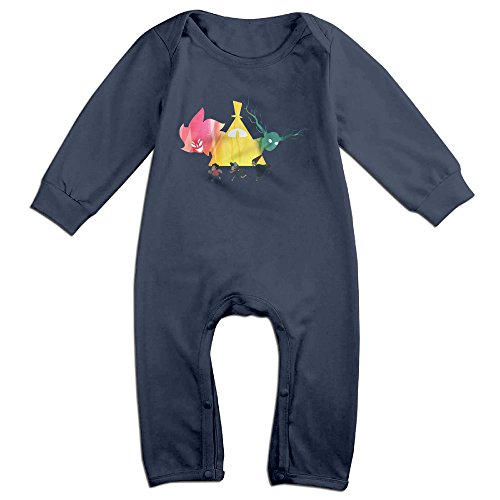 PCY Newborn Babys Boy's & Girl's Over The Garden Wall Long Sleeve Bodysuit Baby Onesie For 6-24 Months Navy Size 18 Months