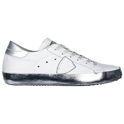 Model Blanc Argent argent Paris Donna Sneakers Philippe Blanc zUWdfqBfw