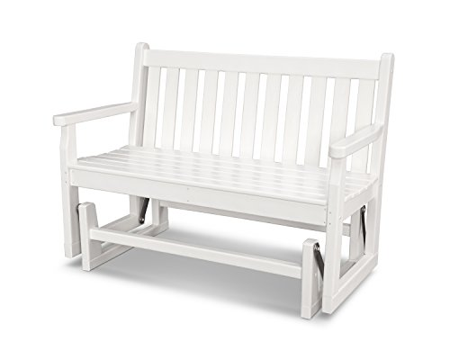 POLYWOOD TGG48WH Traditional Garden 48″ Glider, White For Sale