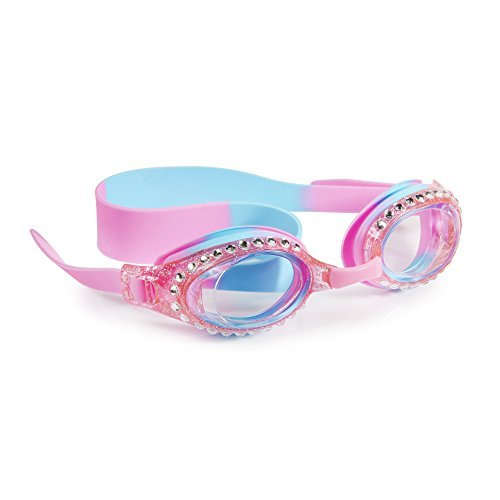 [Swimming Goggles For Girls - New Glitter Classic Kids Swim Goggles By Bling2o (Peppermint Pat Pink)] (Peppermint Costumes)