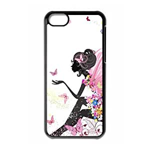 Flower Fairy Butterfly DIY Cover Case with Hard Shell Protection for Iphone 5C Case lxa#866870