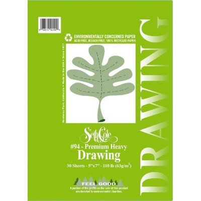 Premium Heavy Drawing Paper Pad Size: 5'' x 7'' by Seth Cole