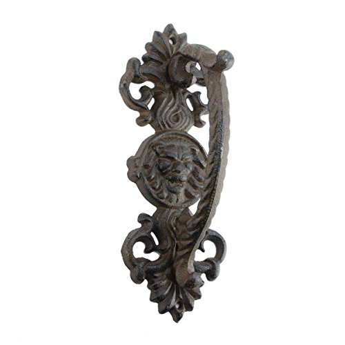 Ornate Door Knobs (Ornate Cast Iron Lion Head Door Handle Gate Pull Grip)