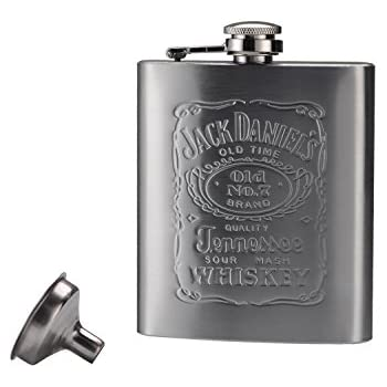 Woooow Hip Flask Pocket Flagon Stainless Steel Flask, 7 oz
