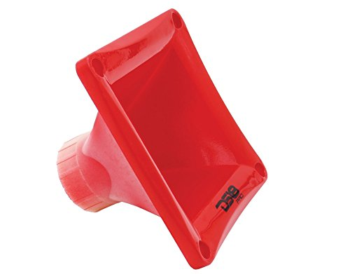 DS18 PRO-H44 Red Universal Square Driver Tweeter Horn Body Easy Twist On/Off Installation, Set of 1 (Red)