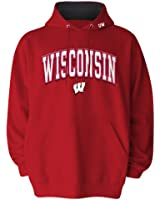 NCAA Men's Wisconsin Badgers Hooded Sweatshirt, Red