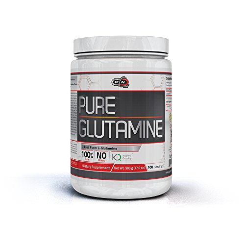 Pure Nutrition USA Pure Glutamine Free Form Micronized Unflavored L-Glutamine 5000mg Powder Sports Supplement (500 Grams) by Pure Nutrition USA