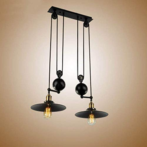 (PLLP Household Chandelier, Crystal Palace Ceiling Lamp, Wrought Iron Wall Lamp Retro Pendant Lightadjustable Height Pulldown Island Pendant Light Ceiling Lamp Retro Industrial Light Lights Light)