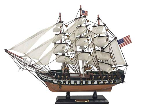 (Hampton Nautical Wooden USS Constitution Limited Tall Ship Model 15