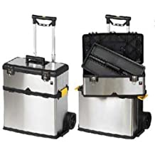 ToolUSA Stainless Steel 2 TierToolbox on Wheels - Detachable: MJ-17573