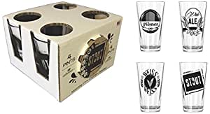 Corkology.com 444-1 Beer Pint Pack with Matching Coaster Set, Clear