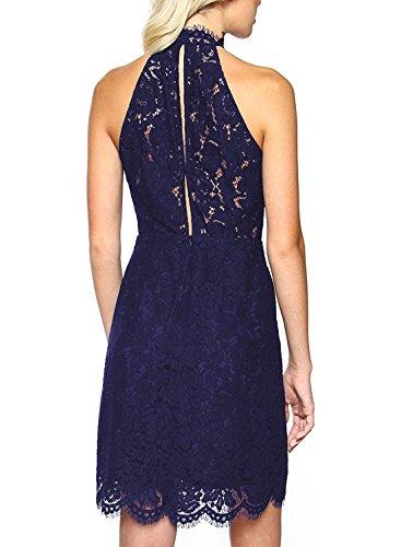 U8Vision - Vestido - Noche - para mujer azul oscuro