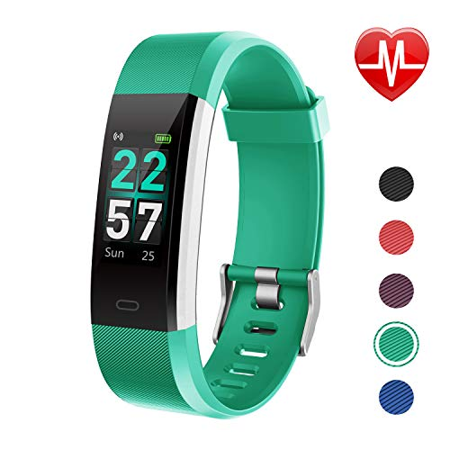 LETSCOM Fitness Tracker Color Screen, Activity Tracker with Heart Rate Monitor, Sleep Monitor, Step Counter, Calorie Counter, IP68 Waterproof Smart Pedometer Watch for Men Women Kids (Green) (Best Activity Tracker For Sleep)