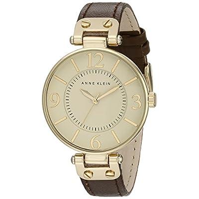 Anne Klein Modern Leather Strap Watch - Brown - 4046264 , B0030DFF90 , 454_B0030DFF90 , 39.99 , Anne-Klein-Modern-Leather-Strap-Watch-Brown-454_B0030DFF90 , usexpress.vn , Anne Klein Modern Leather Strap Watch - Brown