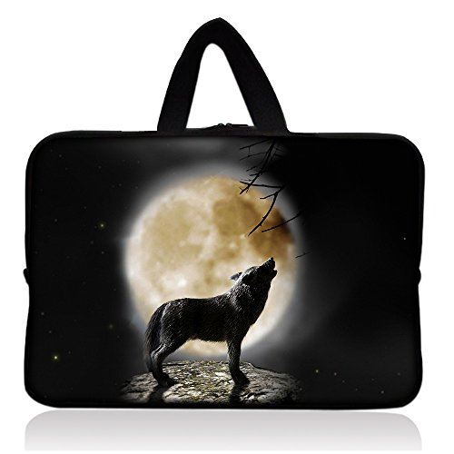 Wolf 7 8 inch Tablet Sleeve bag case with handle Neoprene Zipper Kids Tablet Carrying Sleeve Cover For Samsung Galaxy Tab 7 inches