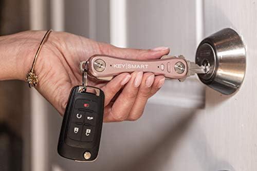 KeySmart Pro  Key Holder w LED  Tile Smart Technology up to 10 Keys Rose