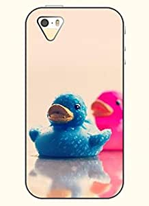 OOFIT Phone Case design with Two Toy Ducks for Apple iPhone 4 4s 4g