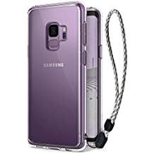 Galaxy S9 Case, Ringke [FUSION] Ergonomic Crystal Transparent [Drop Defense] PC Back Bumper Drop Protection Shock Absorption Technology Cover with Wrist Strap for Samsung Galaxy S9 (2018) - Clear