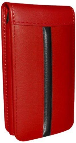 Piel Frama Ledertasche Classic Magnetic RACE Edition Rot/Schwarz für Apple iPhone 5 / 5S