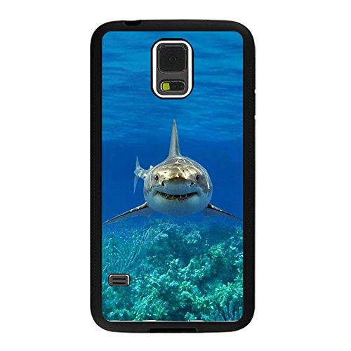 Samsung Galaxy S5 Shark Phone case with Complimentary Screen Guard Free (Galaxy S5 Case Jaws)