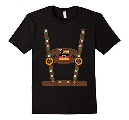 Mens LEDERHOSEN Oktoberfest Beer Party costume German T-Shirt Small (Funny German Costume Ideas)