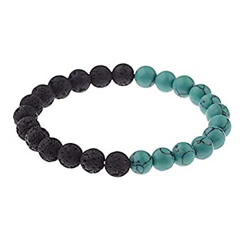 Amazon.com: Gabcus DUOVEI 8mm Beads Natural Lava Stone Yoga ...