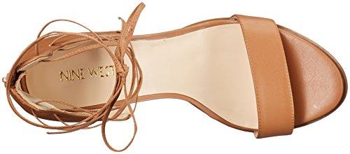 Nine West Women's Punton Synthetic Heeled Sandal Dark Natural Synthetic outlet order online tKrNg