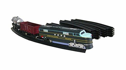 19 tlg. Eisenbahn Schnellzug Set Modern Train Lok Lokomotive Waggons Schienen mit Licht & Sound Kinder Spielzeug