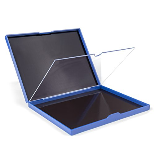 The Adept Palette: Magnetic Double Sided Empty Makeup Palette with Divider, 100 pan, Hardshell case, Extra Large, Holds over 100 Standard Round Eyeshadows - Blue