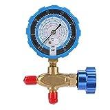Manifold Gauge, 500 psi 35kgf/cm² Air Condition Refrigeration Manifold Gauge (Blue) Manometer & Valve for R404a R22 R410 R134A