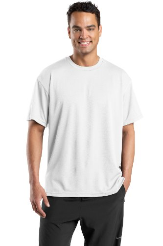 Dri Mesh Short Sleeve T-shirt - Sport-Tek Men's Dri Mesh Short Sleeve T Shirt XXL White