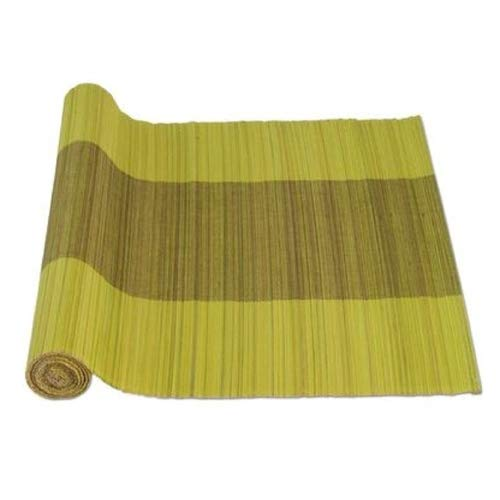 Tag Water Hyacinth Bamboo Table Runner Green Roll Tablerunners Nubby Texture Woven Long Natural For Kitchen Dining Room Table Rectangular Use With Tablecloth Kitchen Casual Everyday 74 by 18 ()